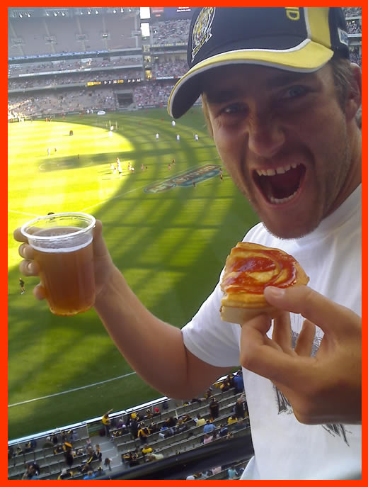 Nothing better than a beer and a pie at the footy