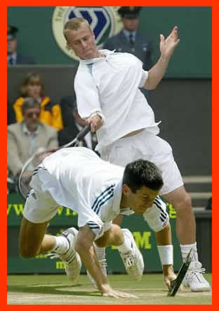 Lleyton may be losing but he's doing a bit better than England's favourite laughing stock Tim Henman in this shot.