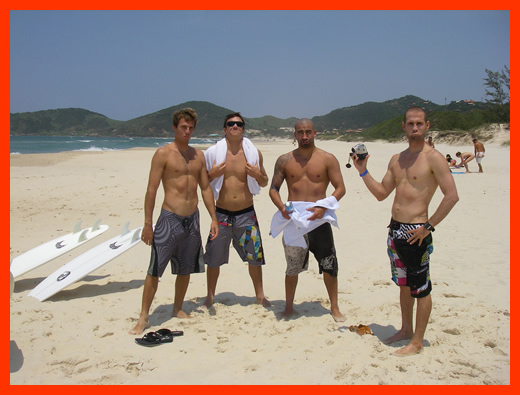 """With Corey, """"Gaybo King"""" and Bobby on the Muscle Beach Dream Tour, Brazil."""