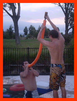 And nothing caps off an elegant winery tour, quite like chugging suds through a hollow pool noodle.
