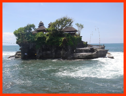 We also did a bit of the Terry Tourist thing and went and visited this really cool temple that you can get to on low tide and as you can see from the picture we didn't time it too well.