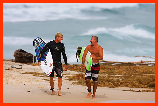 Mick Fanning Surfing Snapper with DH